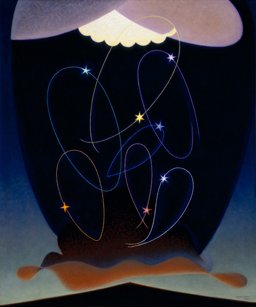 "Agnes Pelton, ""Orbits,"" 1934. Oil on canvas. 