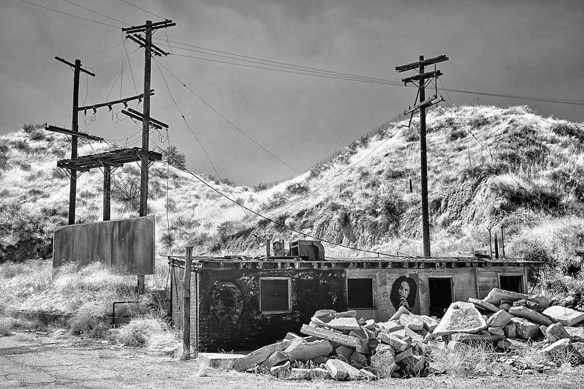 Building & Rubble – Infrared Exposure – Whittaker-Bermite Site – Santa Clarita, CA – 2017 | Osceola Refetoff