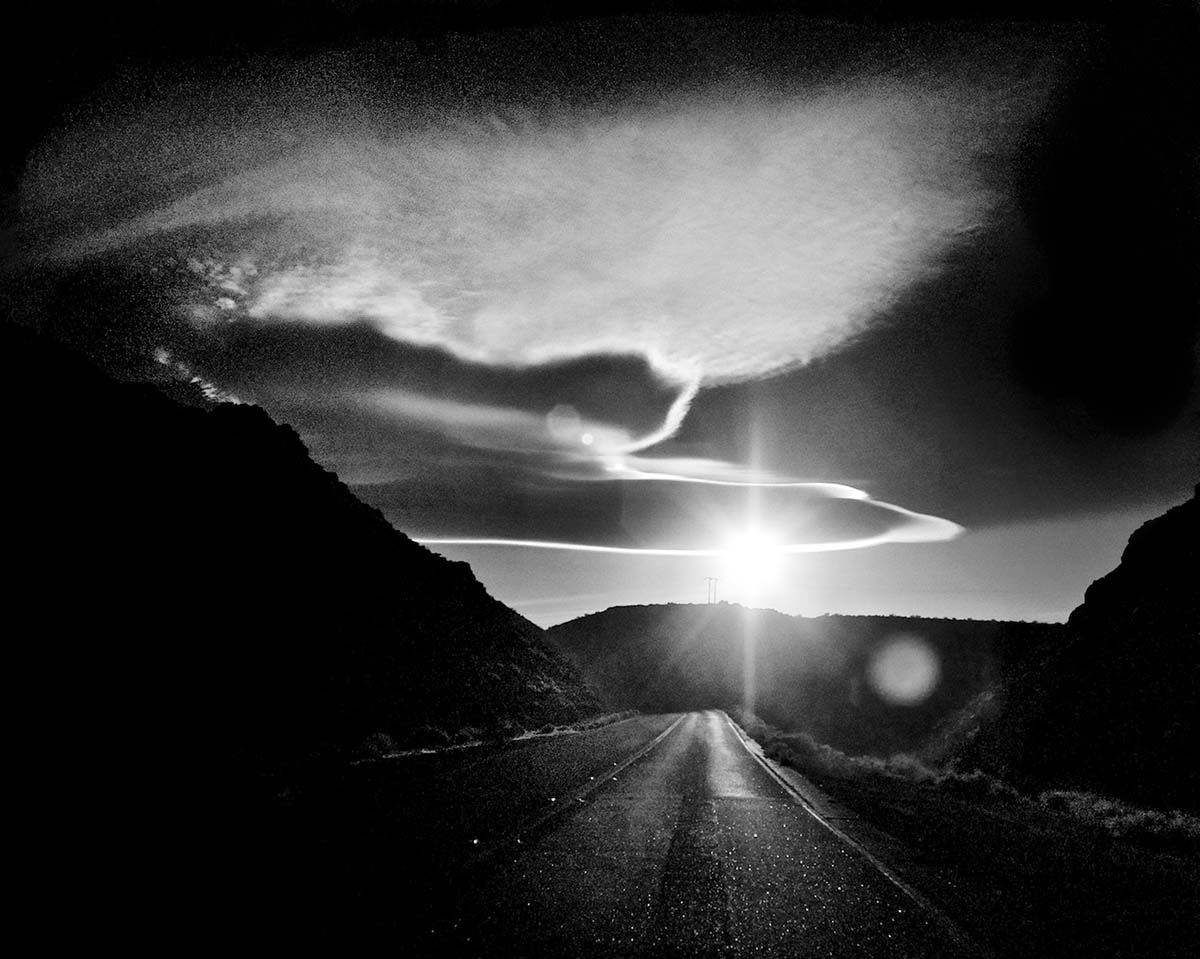 Leaving Trona - Infrared Exposure - CA Highway 178 - 2011 | Osceola Refetoff
