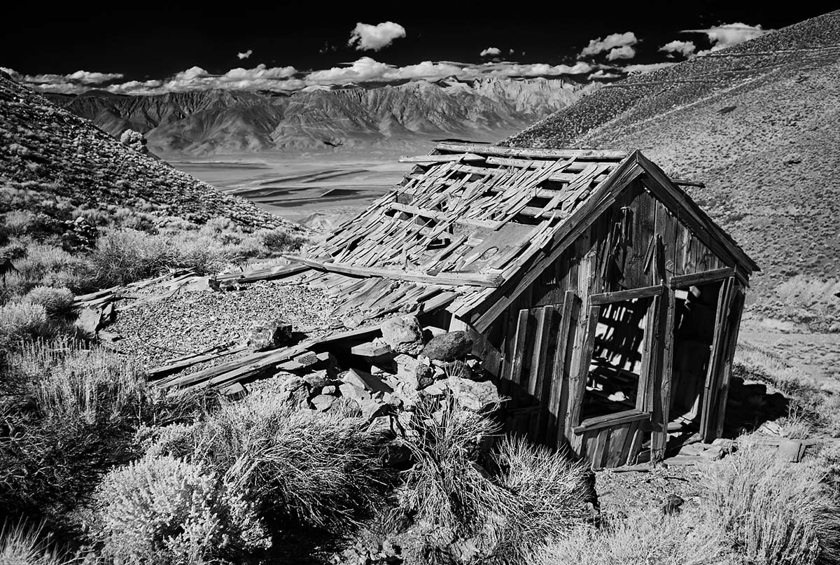 Mountain Shack Above Owens Lake - Infrared Exposure - Cerro Gordo, CA - 2014  | Osceola Refetoff