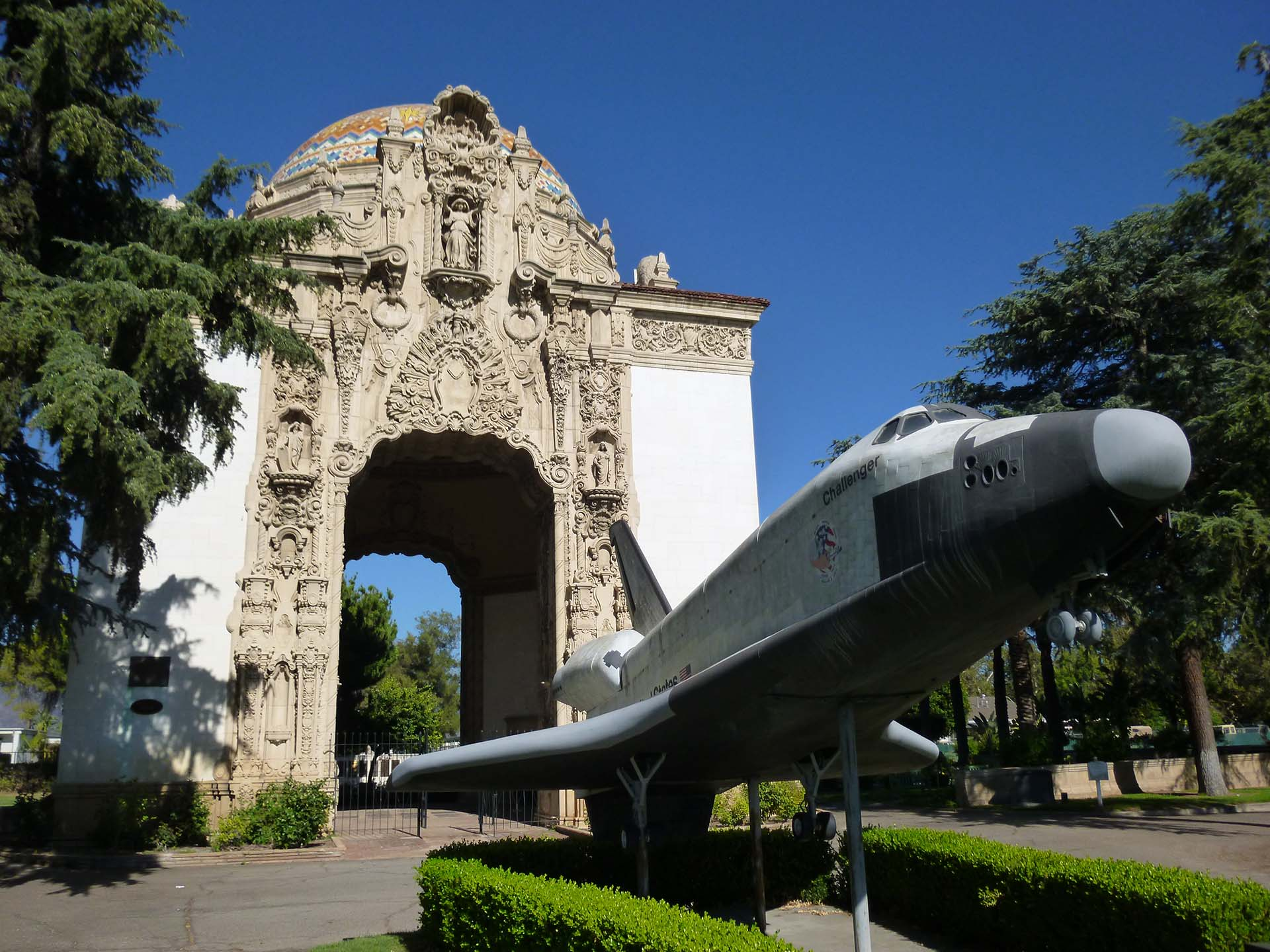 """""""The Portal of the Folded Wings Shrine to Aviation"""" in North Hollywood 