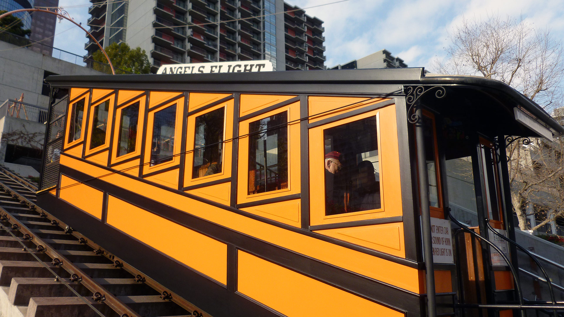 An Angels Flight railcar | Sandi Hammerlein