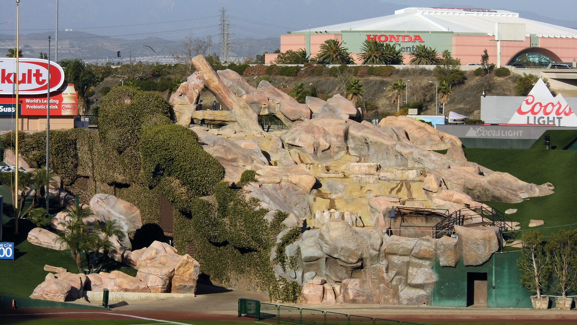 """Pride Rock"" at Angels Stadium 