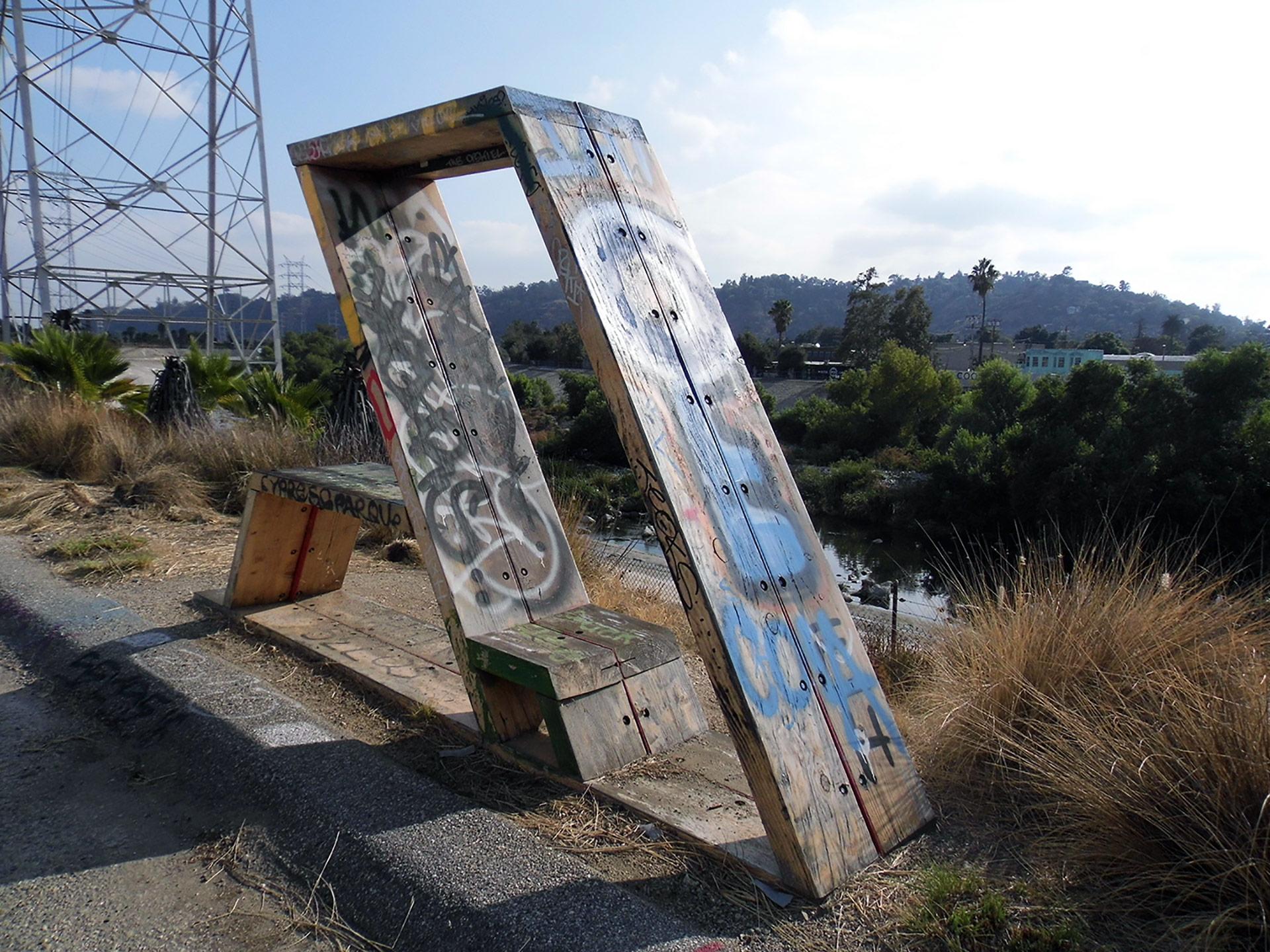 Graffitied artwork at the Bowtie Project. | Sandi Hemmerlein