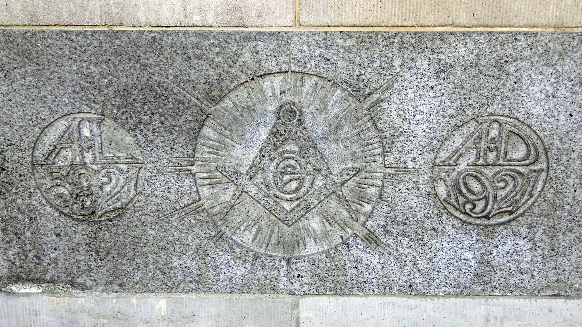 Masonic symbolism on the exterior of the Hollywood Masonic Temple. | Sandi Hemmerlein