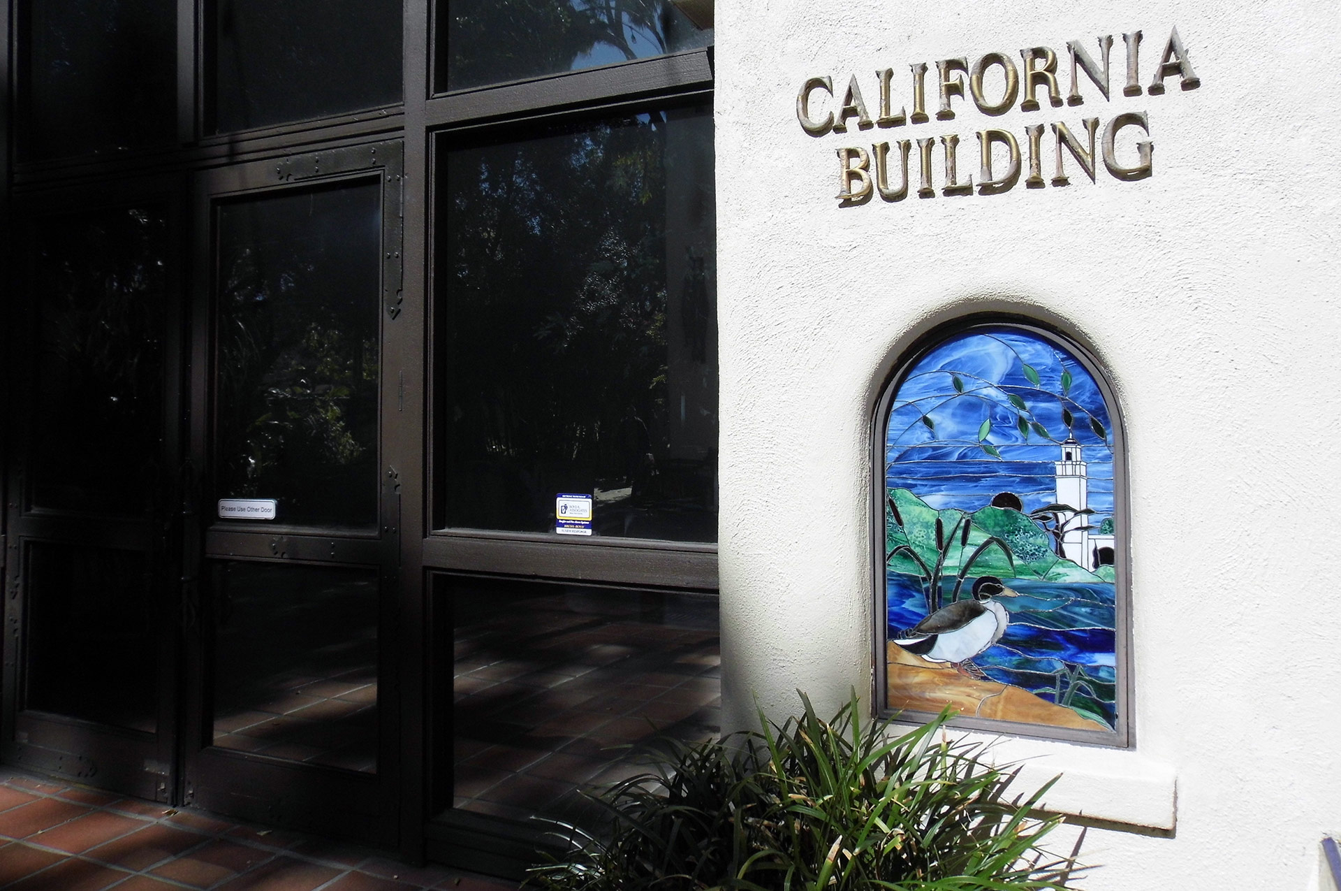 Entrance to the California Building, home to an exhibit that celebrates the L.A. River. | Sandi Hemmerlein