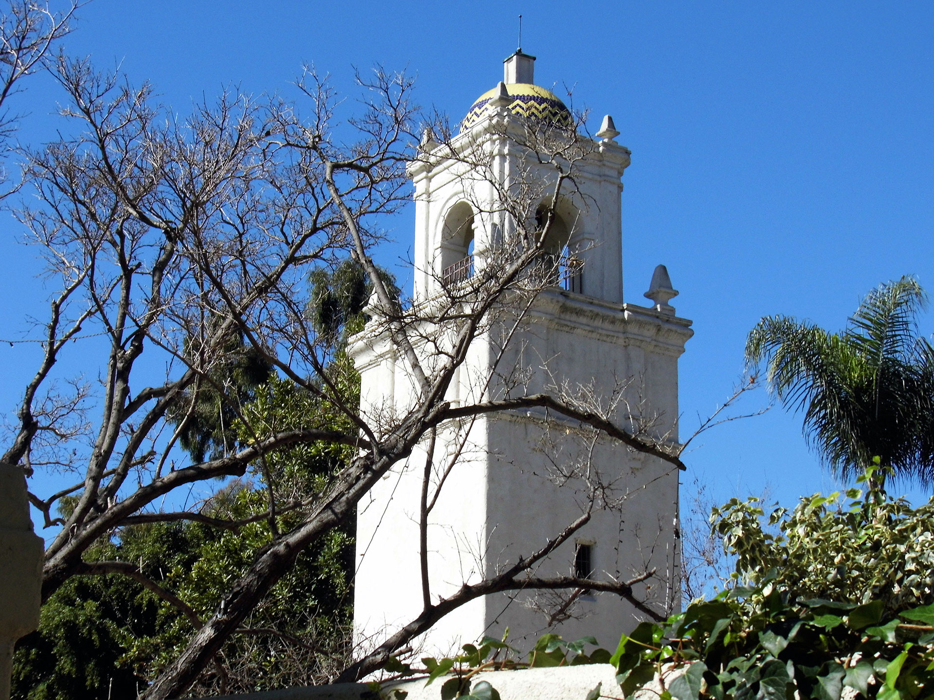 The Los Angeles River Center & Gardens features a bell tower in the Early California style. | Sandi Hemmerlein