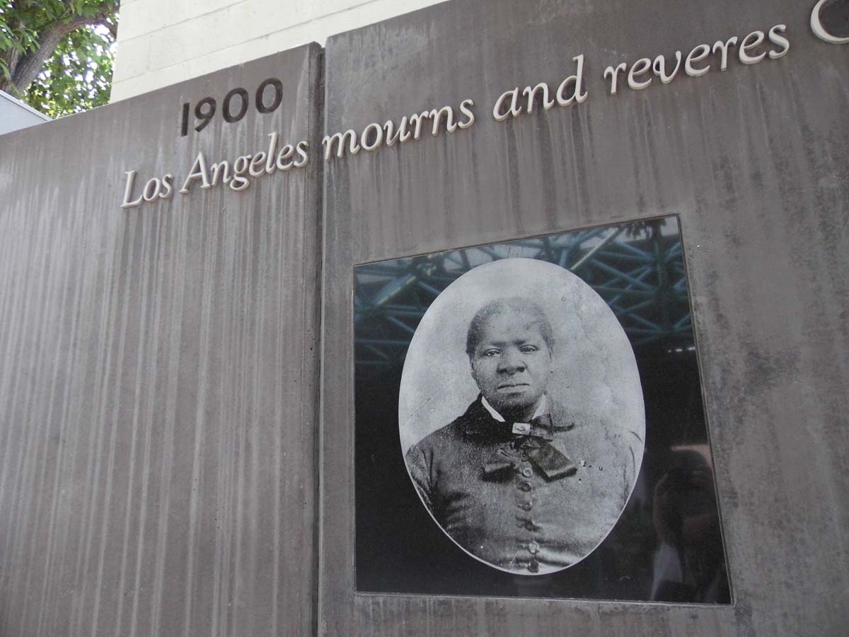 The Biddy Mason memorial at Biddy Mason Memorial Park. | Sandi Hemmerlein