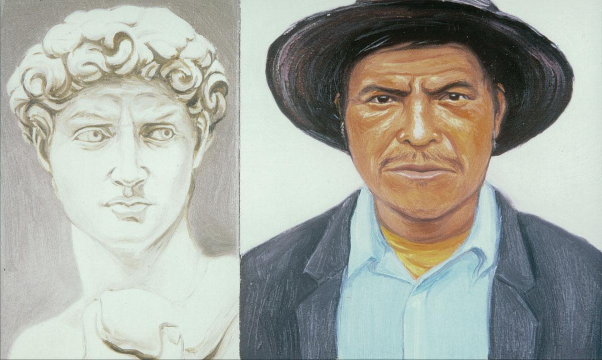 A painting by Salomon Huerta, Alvaro Huerta's father. (2003) | Courtesy of Alvaro Huerta