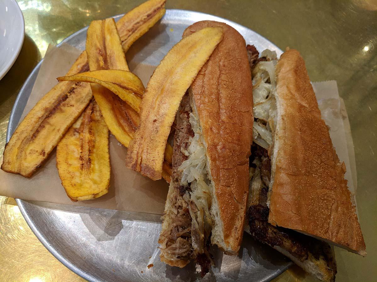Pan con lechon at Don Francisco Casa Cubana | Courtesy of Gaviña Coffee Company