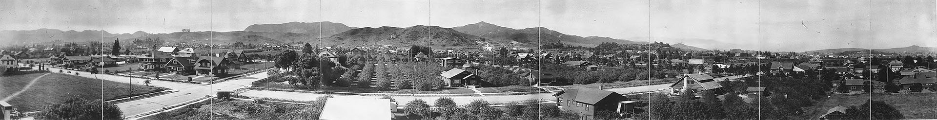 Panoramic view of residential Hollywood, ca.1910