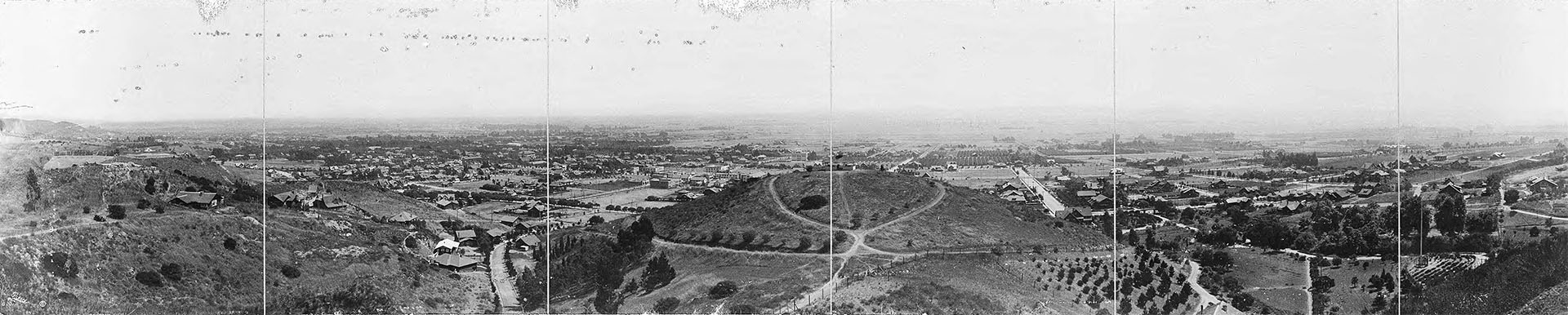Panoramic view of Hollywood taken from Lookout mountain, ca. 1906