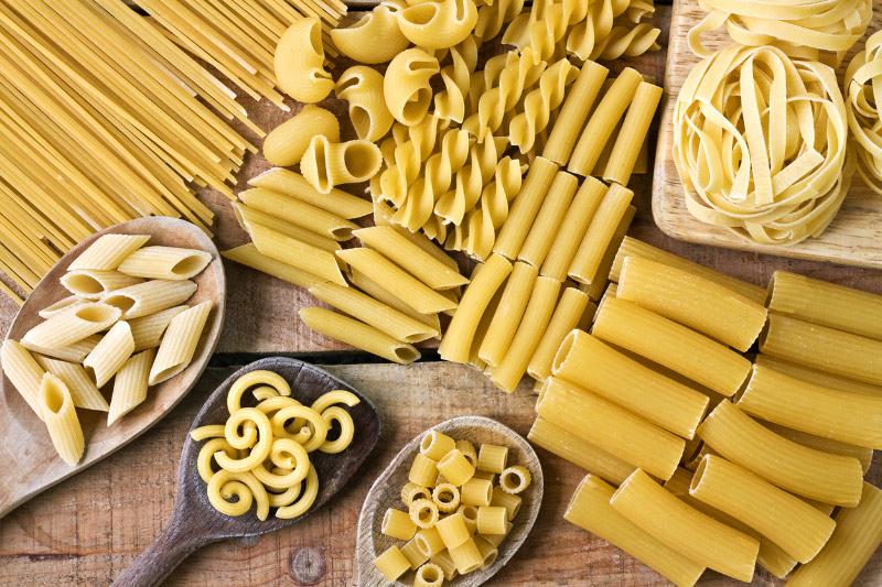 Variety of pastas