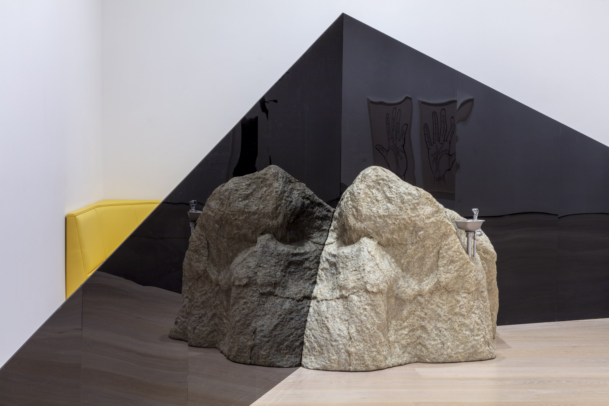 """An installation view of Patrick Jackson's work at """"Made in L.A. 2020: a version."""" at Hammer Museum, Los Angeles. 