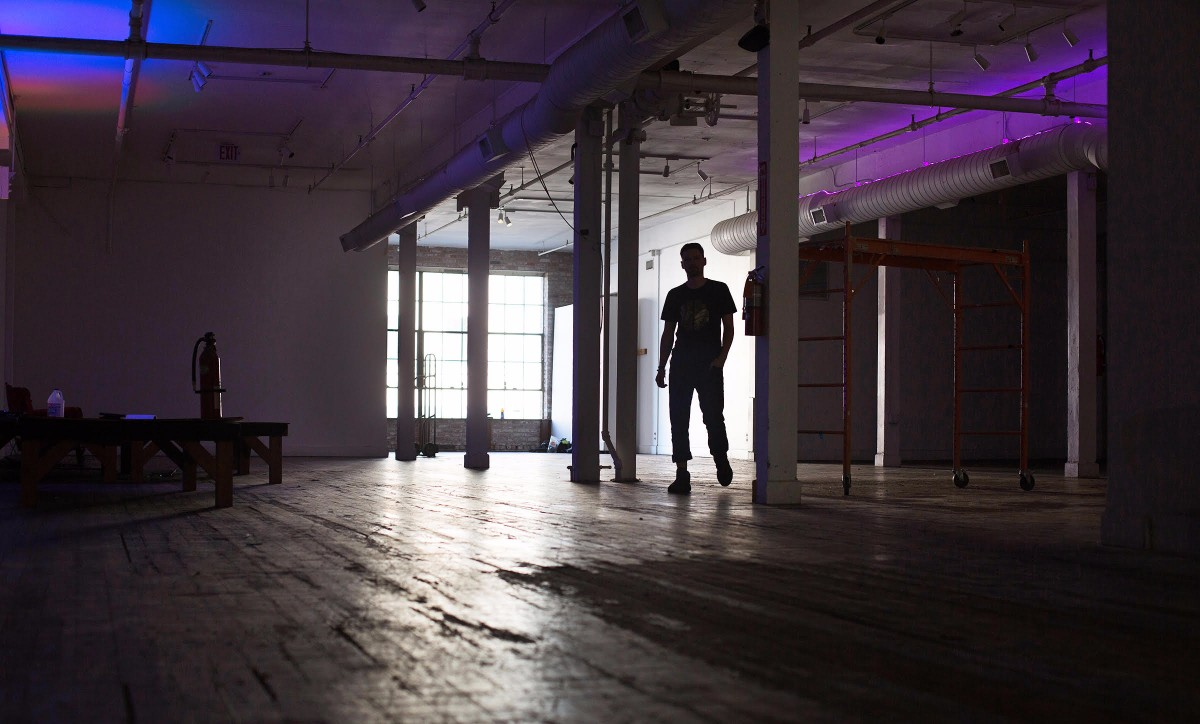 Think Tank Gallery executive director Jacob Patterson in his old space | Magali Gauthier