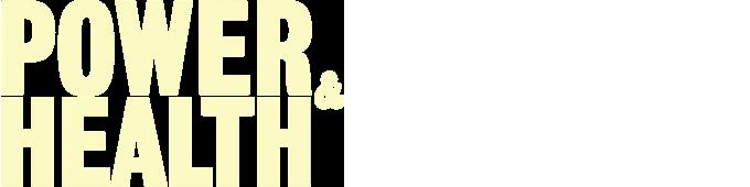 """Power and Health"" logo (white)"
