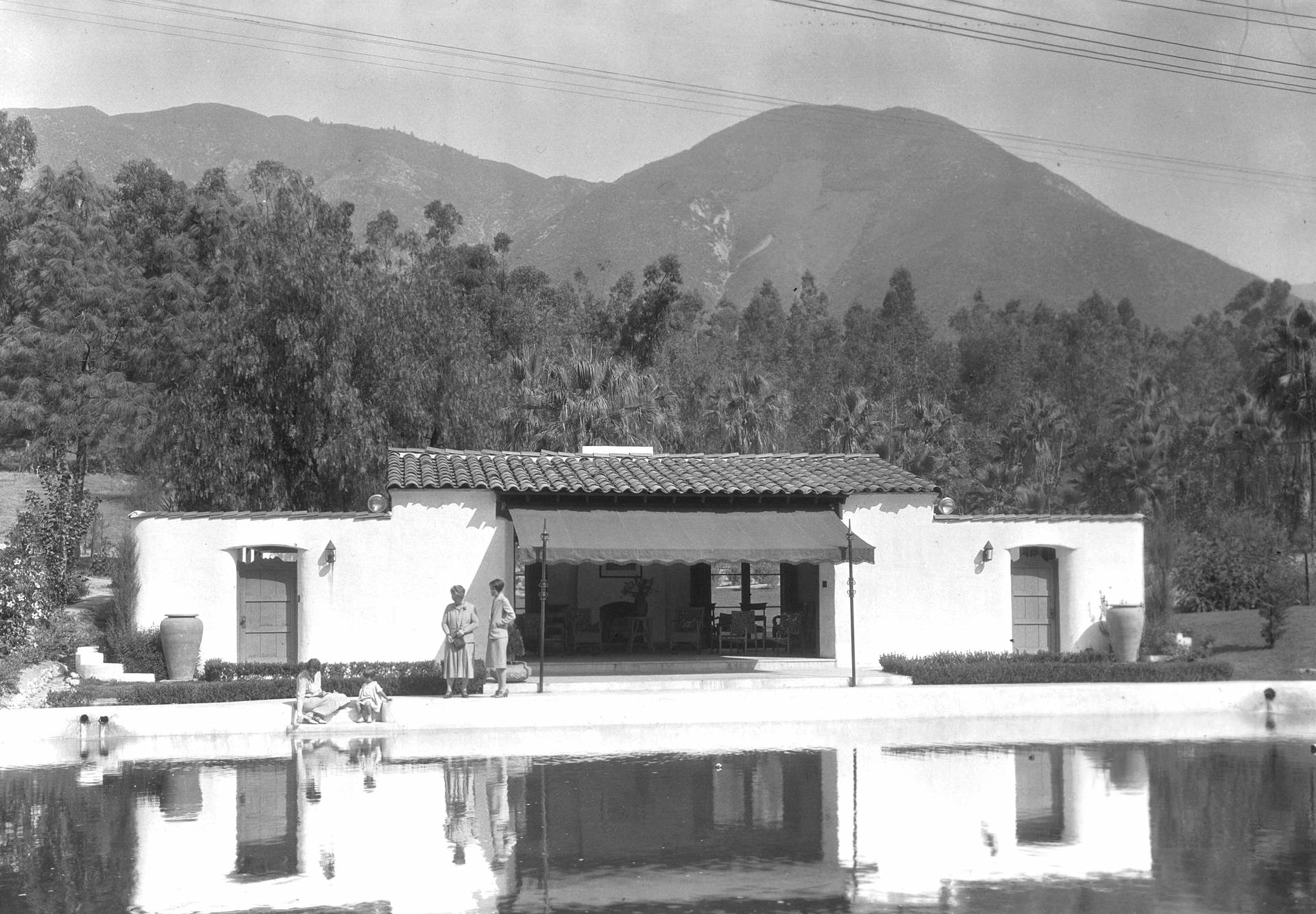 Arrowhead Springs Hotel pool, circa 1925-30