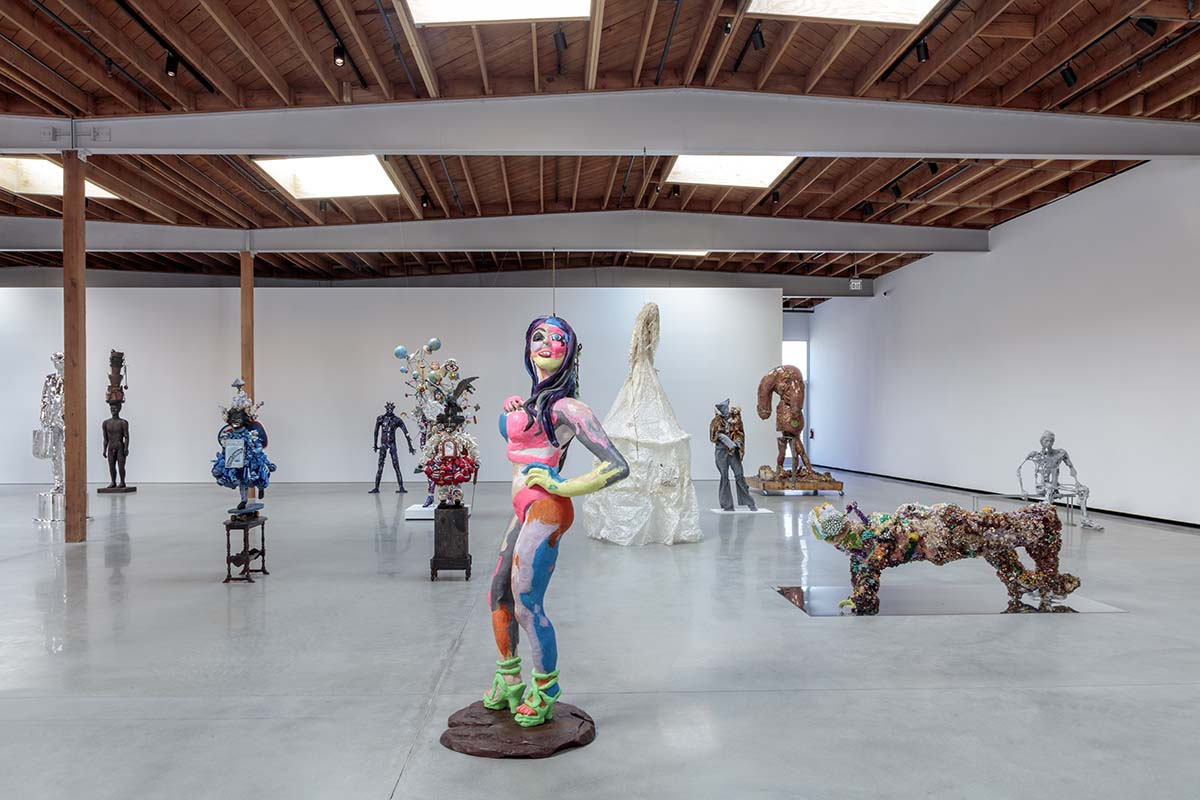 """People"" exhibit installation at Jeffrey Deitch, Los Angeles 