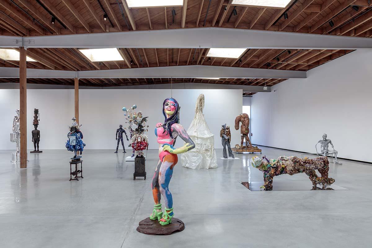 """People"" exhibit installation at Jeffrey Deitch, Los Angeles | Joshua White"