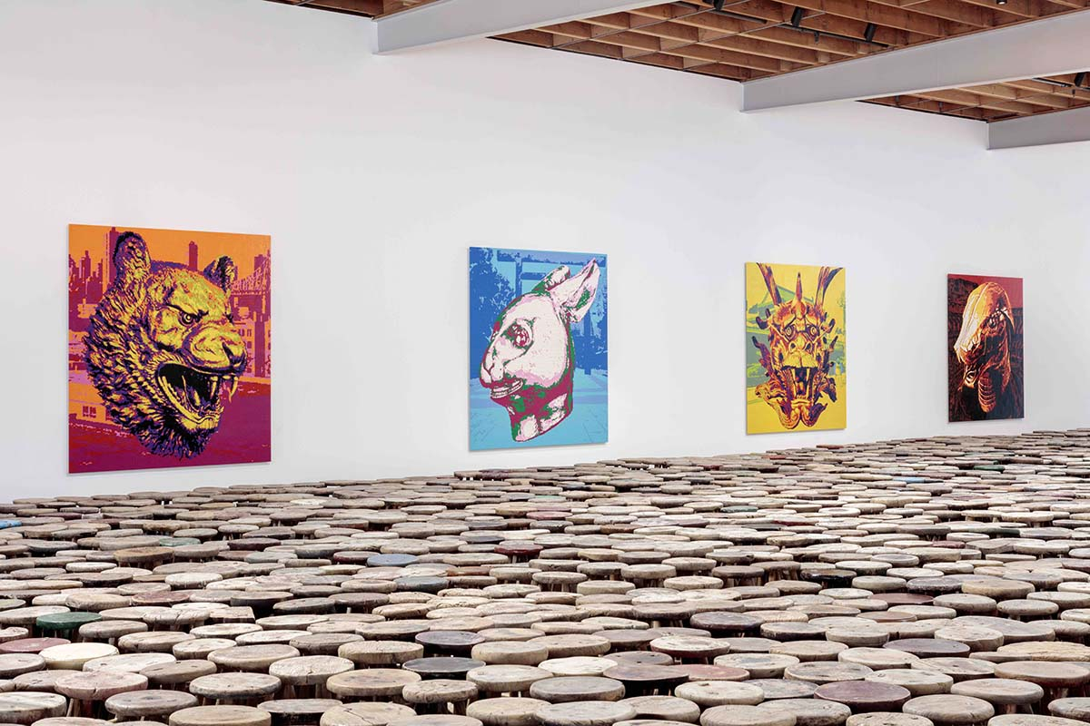 "Ai Wei Wei's ""Zodiac"" exhibition at Jeffrey Deitch, Los Angeles 