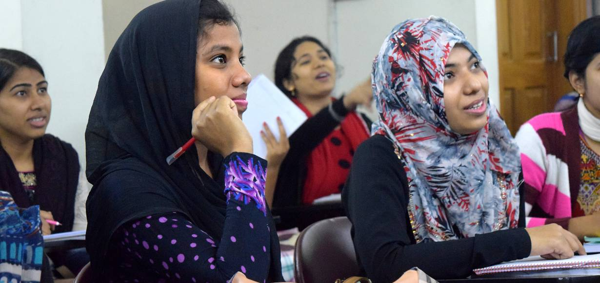 Students from Asian University for Women's pathway program in a classroom in February 2017.   Handout/Asian University for Women