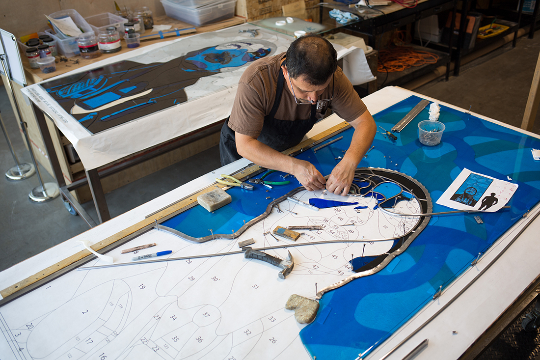 Process of creating a David Flores piece | Courtesy of Judson Studios