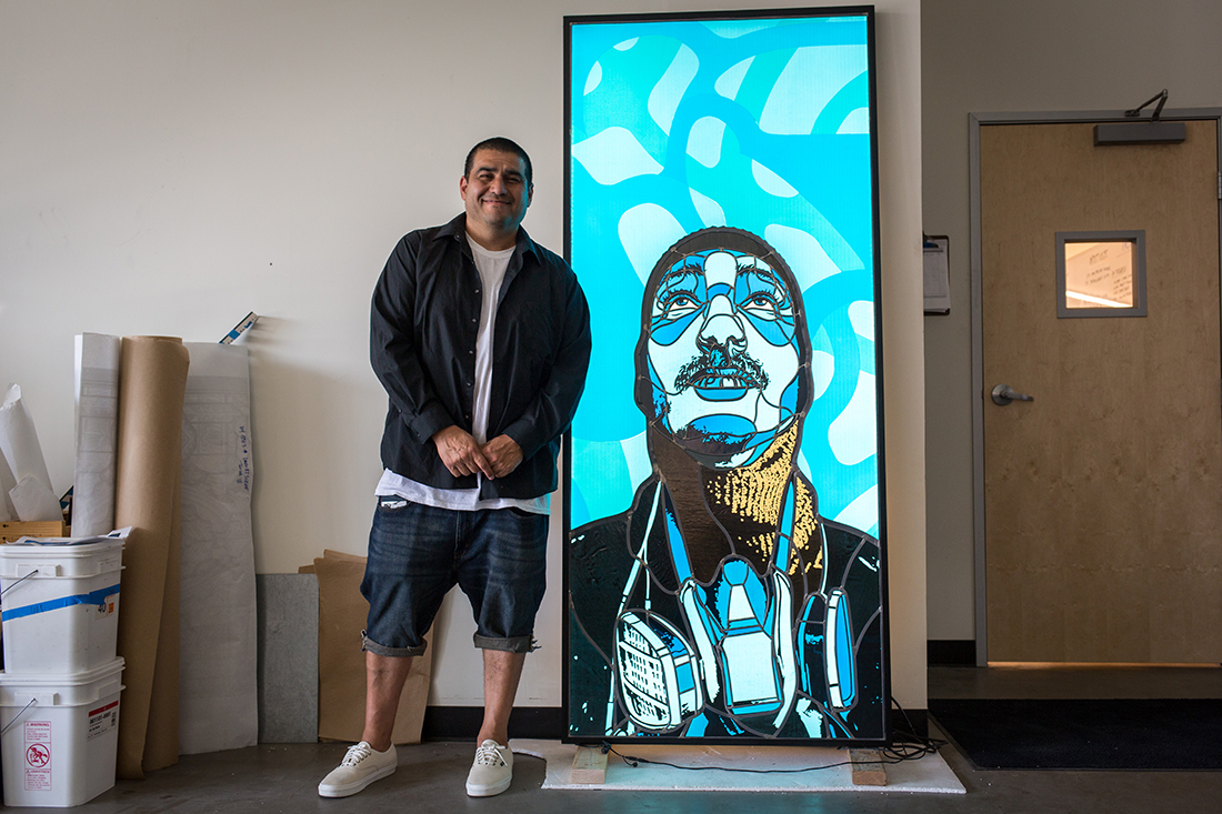 David Flores with finished work | Courtesy of Judson Studios