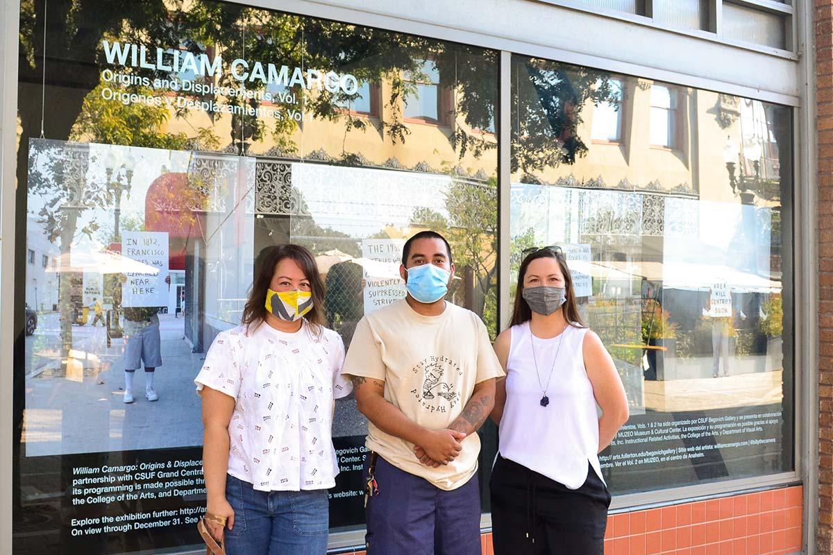 Jennifer Frias, William Camargo and Katie Adams Farrell at the Grand Central Art Center | RJ Abesamis