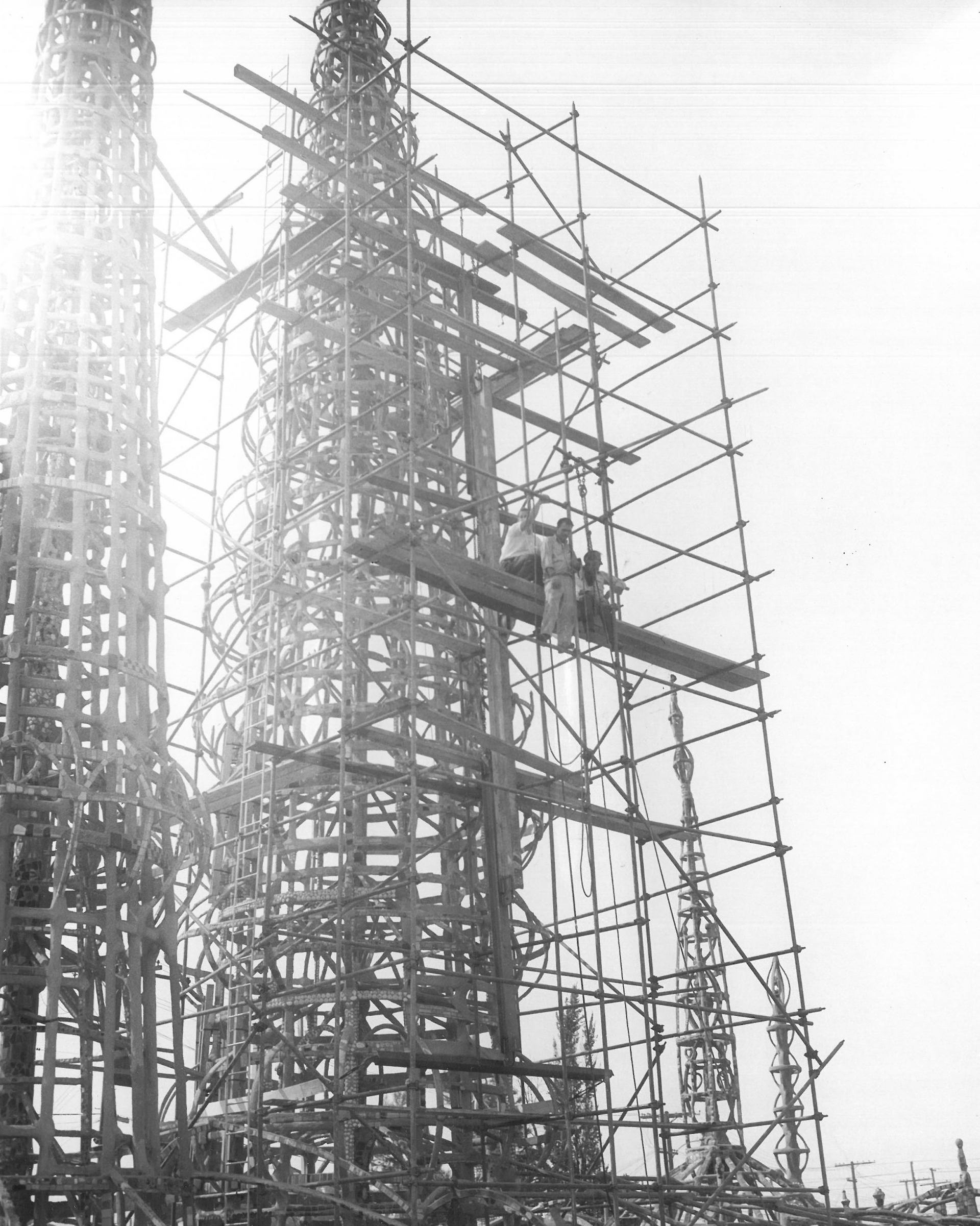Photo taken during structural testing, July 1959