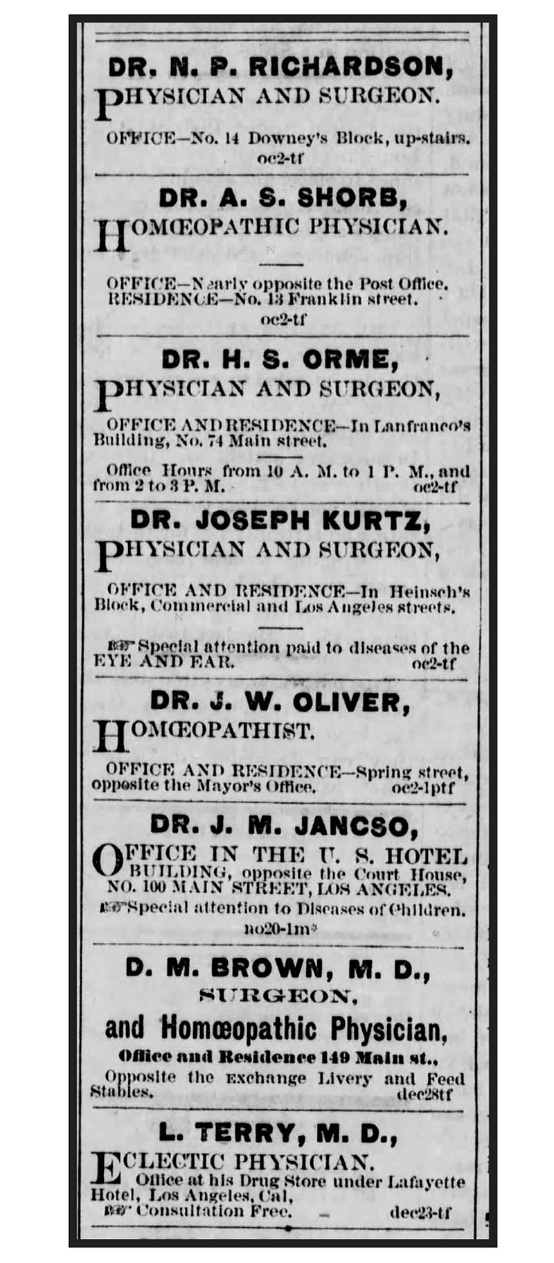Physicians of Los Angeles.