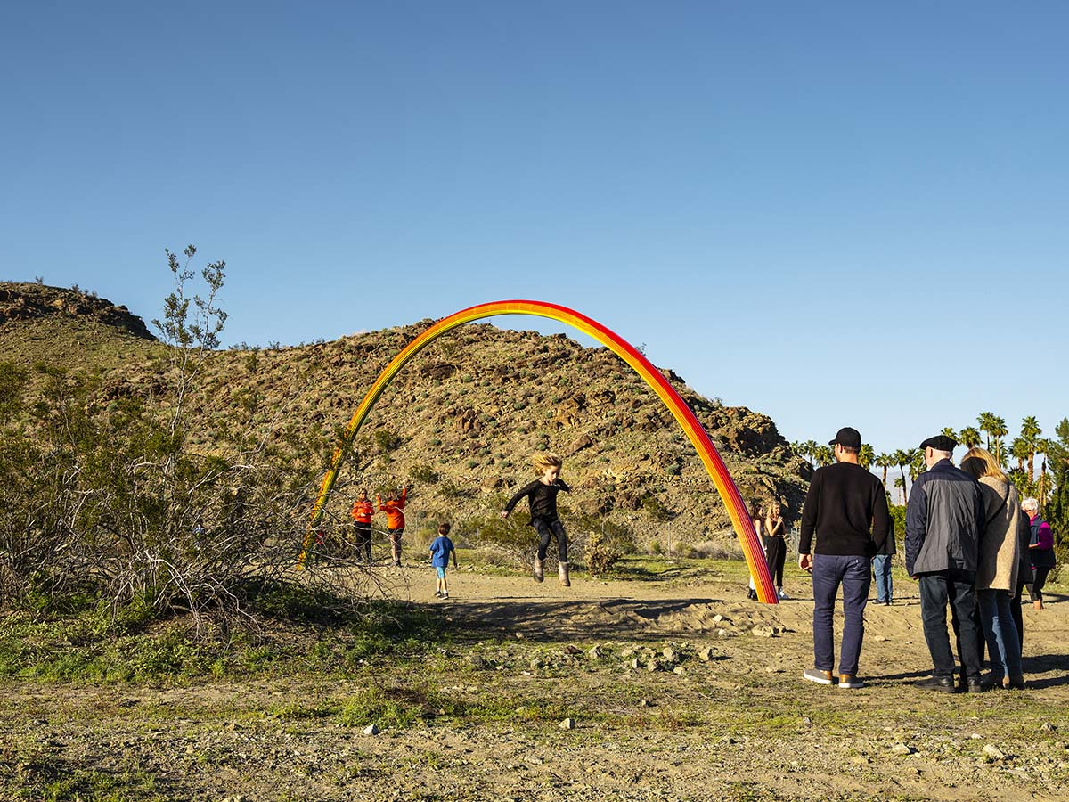 Desert X installation view, Pia Camil, Lover's Rainbow, 2019  | Lance Gerber, courtesy of Desert X
