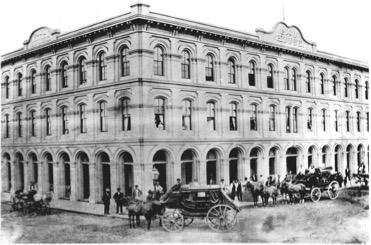 The Pico House Hotel, ca. 1870. Courtesy of El Pueblo de Los Angeles Historical Monument.