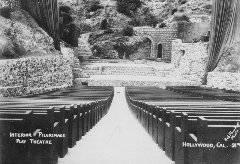 Pilgrimage Play Amphitheater circa 1931. Photo by Bob Plunkett.