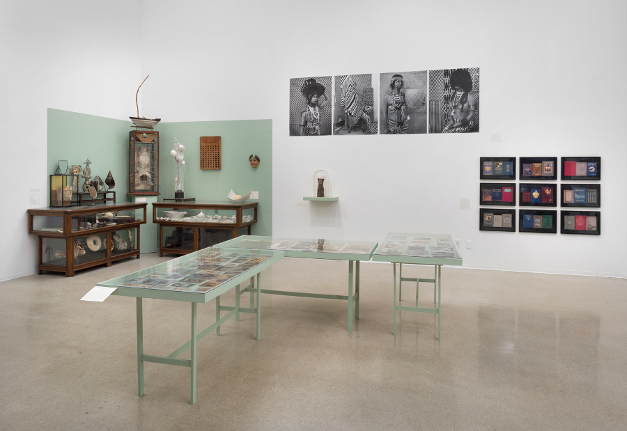 "Pitzer College Art Galleries, ""Wunderkammer"" installation view"
