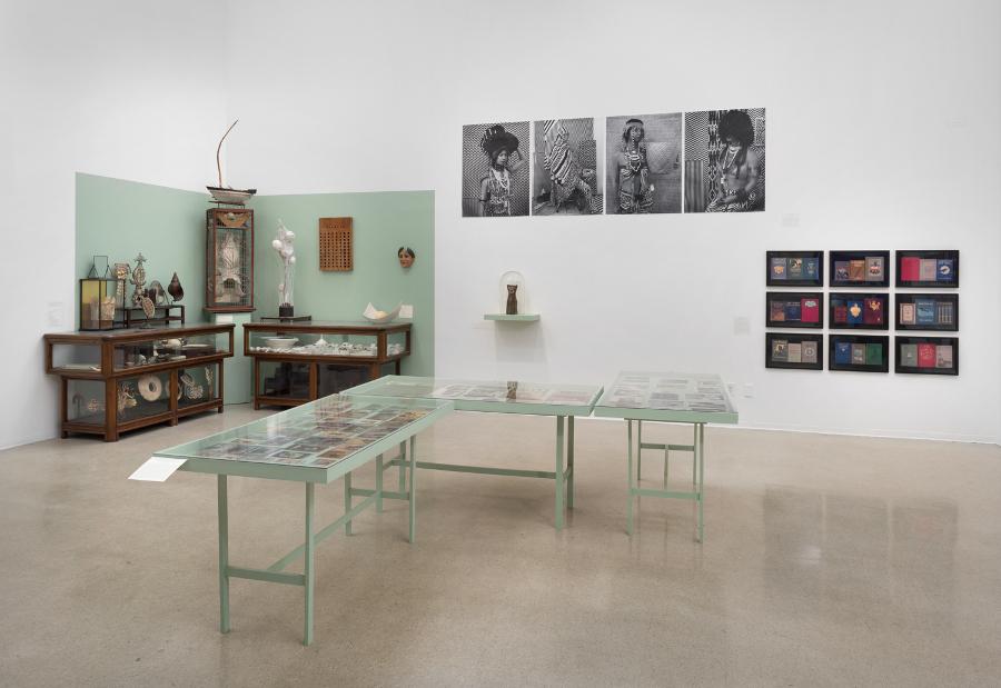 """Pitzer College Art Galleries, """"Wunderkammer"""" installation view"""