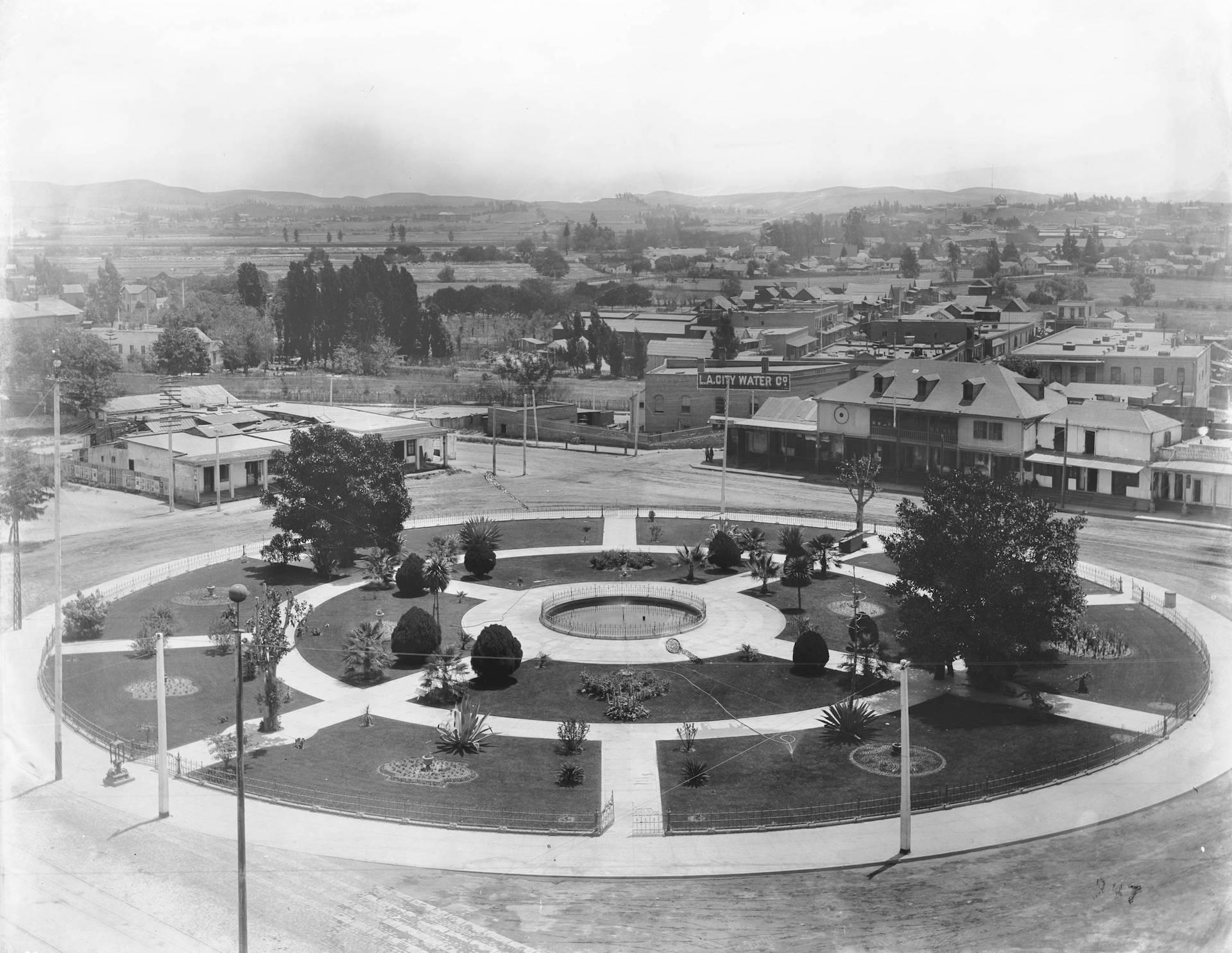 Los Angeles Plaza, circa 1890-95