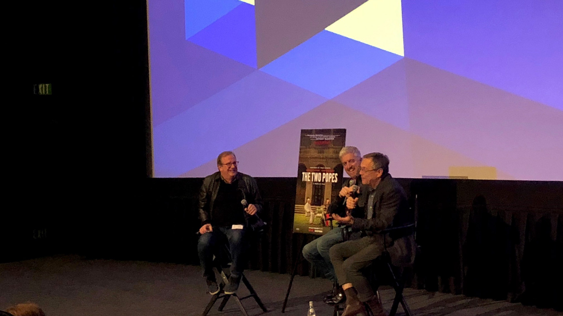 Post screening Q&A with Pete Hammond, Anthony McCarten, and Fernando Ferreira Meirelles