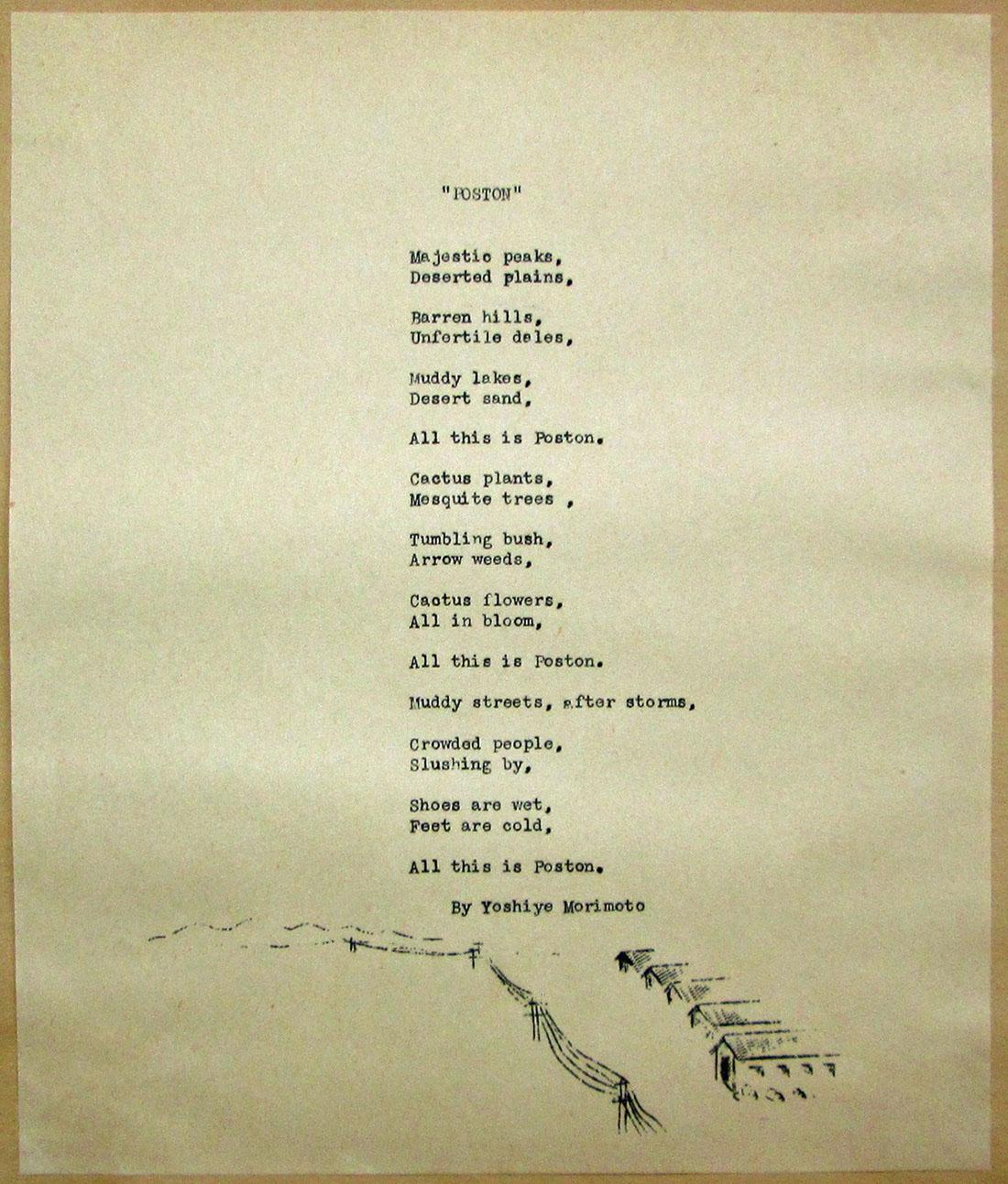 Poston poem | Courtesy of Bill Bell