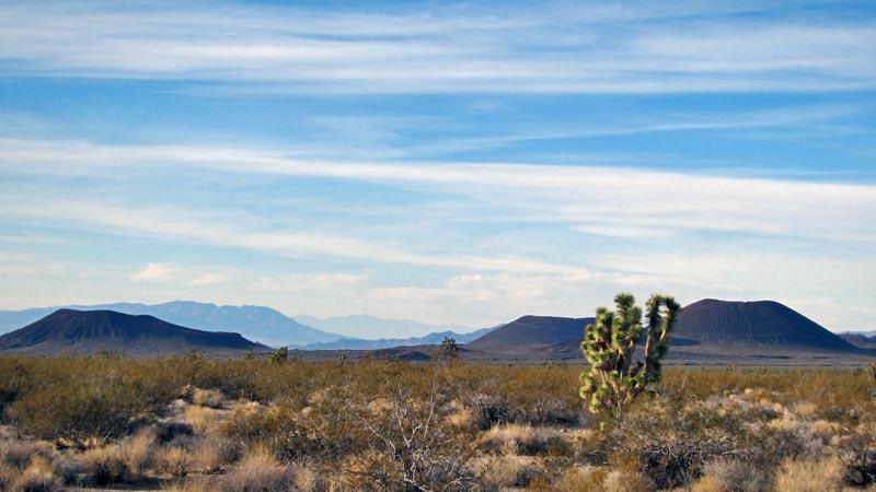 Cinder cones along Kelbaker Road in the Mojave National Preserve