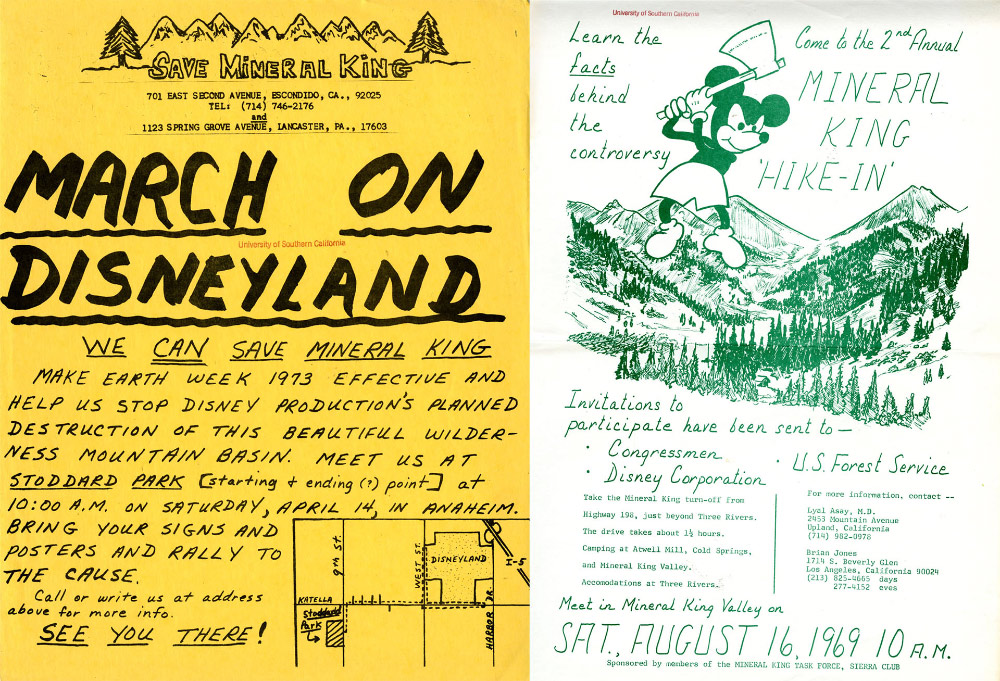 "Activists staged ""hike-ins"" and marches on Disneyland"