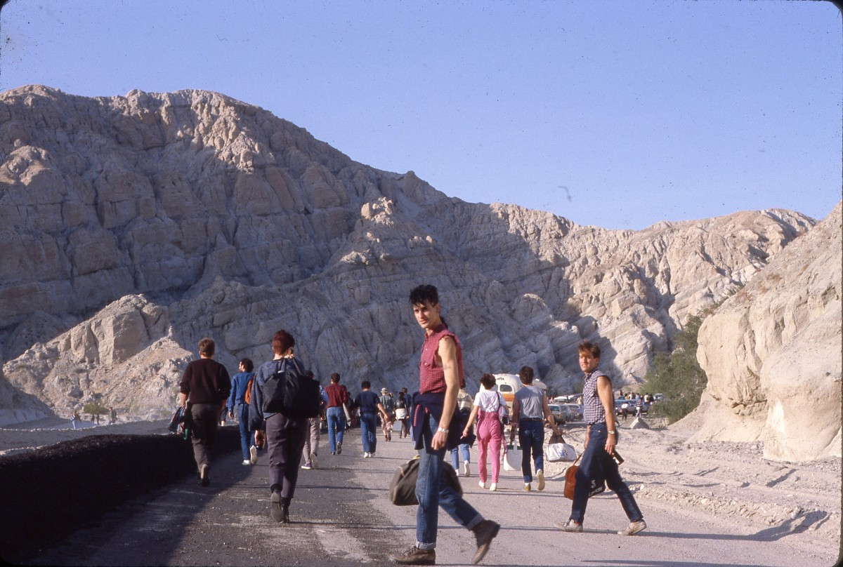 Psi Com singer Perry Farrell and drummer Aaron Sherer,  Desolation Center: Mojave Auszug, 1984 | Mariska Leyssius