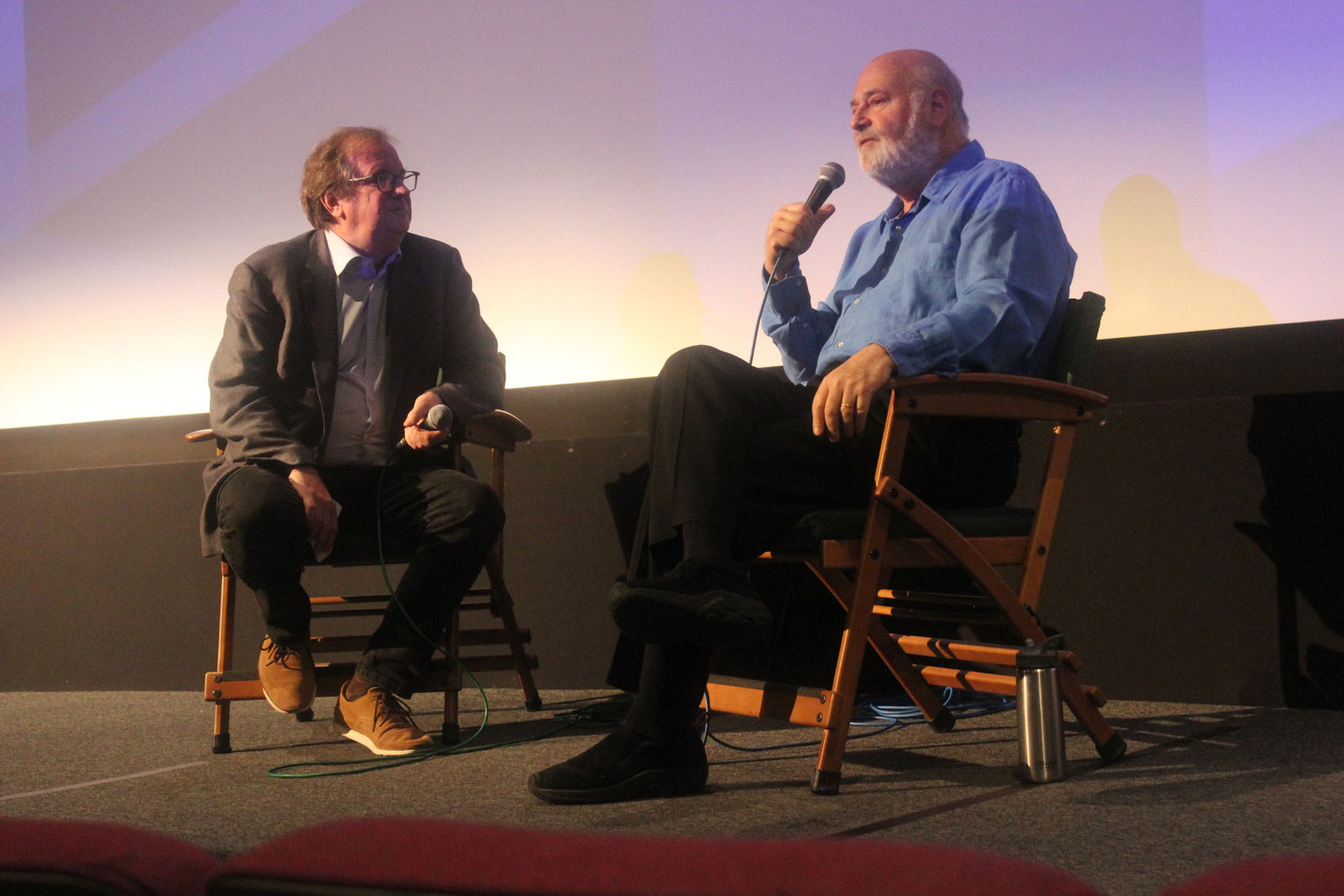 "Cinema Series host Pete Hammond and Director/Producer Rob Reiner participate in a Q&A after a screening of ""Shock and Awe"""
