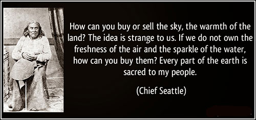 Chief Seattle's fake speech excerpt