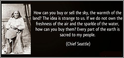 Chief Seattle's fake speech excerpt