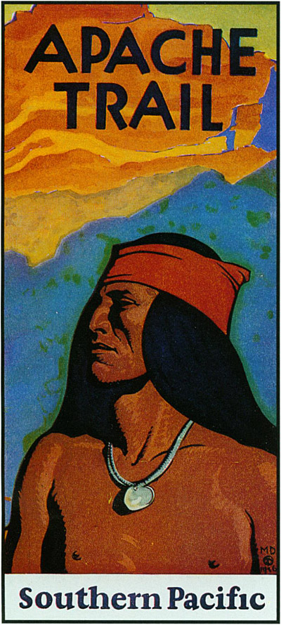 """Apache Trail,"" by the famed California artist Maynard Dixon."