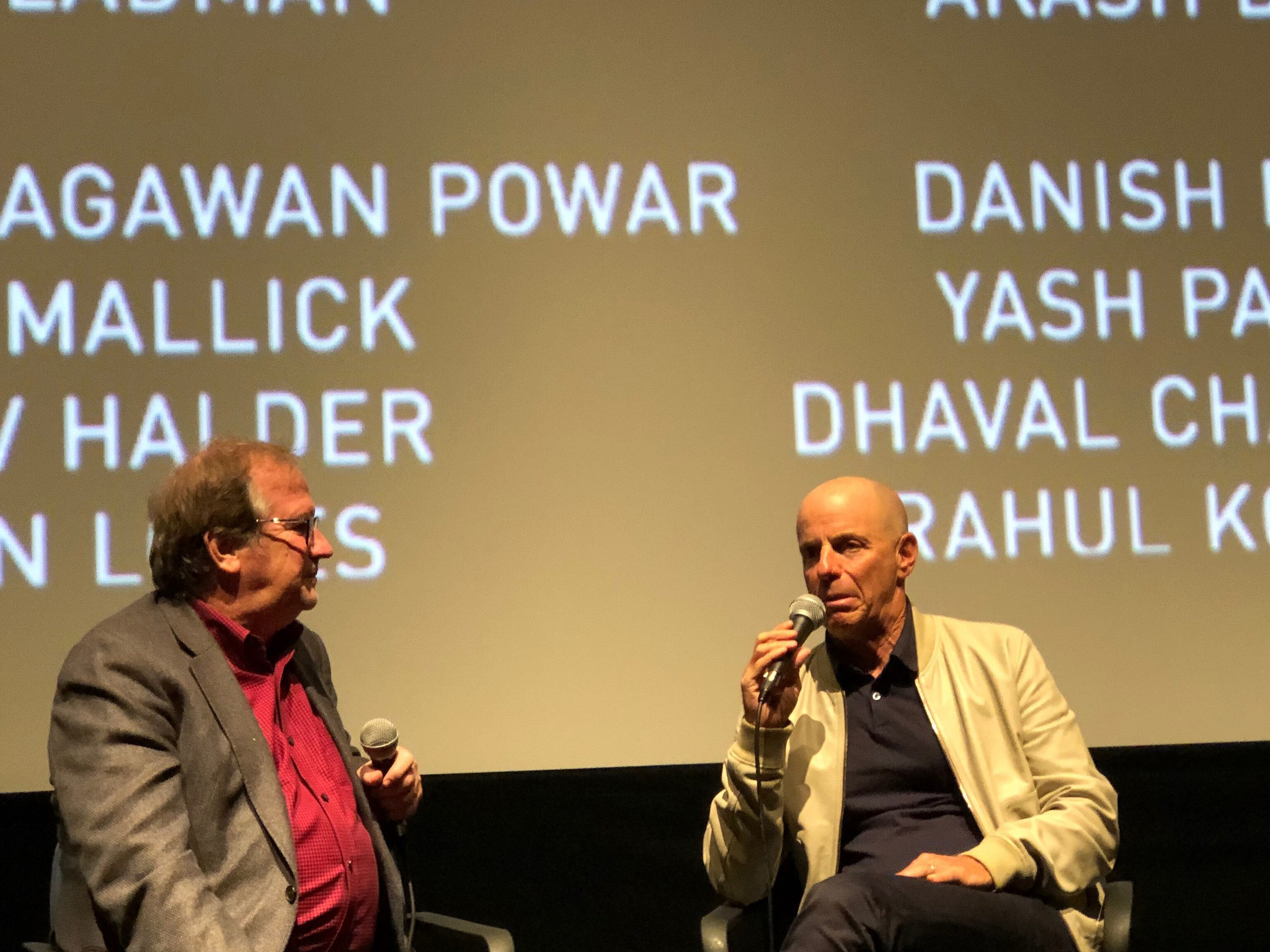 "Cinema Series host Pete Hammond, Producer Neal H. Moritz participate in a Q&A after a screening of ""The Art of Racing in the Rain"""