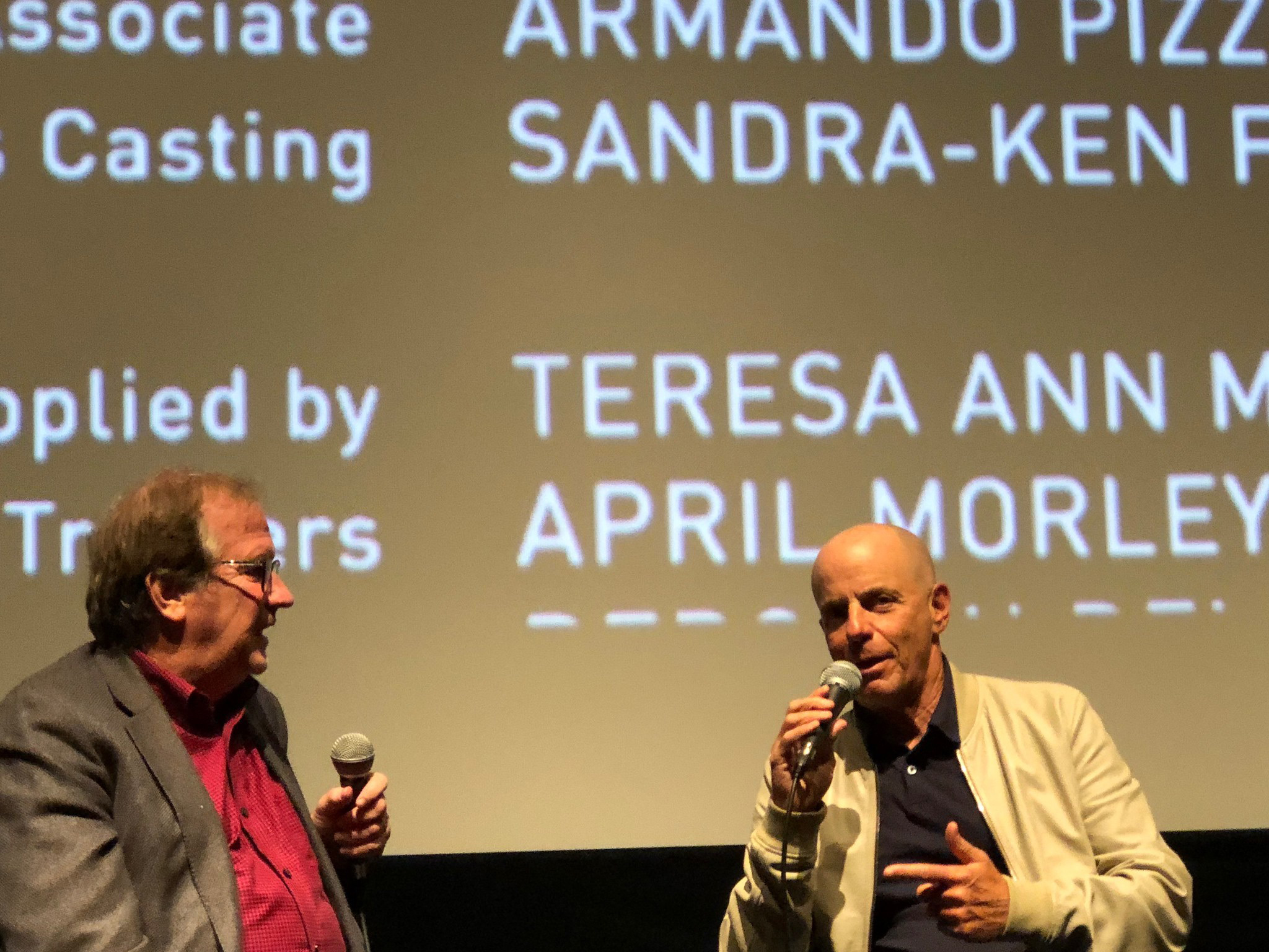 "Cinema Series host Pete Hammond, Producer Neal H. Moritz take questions from the audience after a screening of ""The Art of Racing in the Rain"""