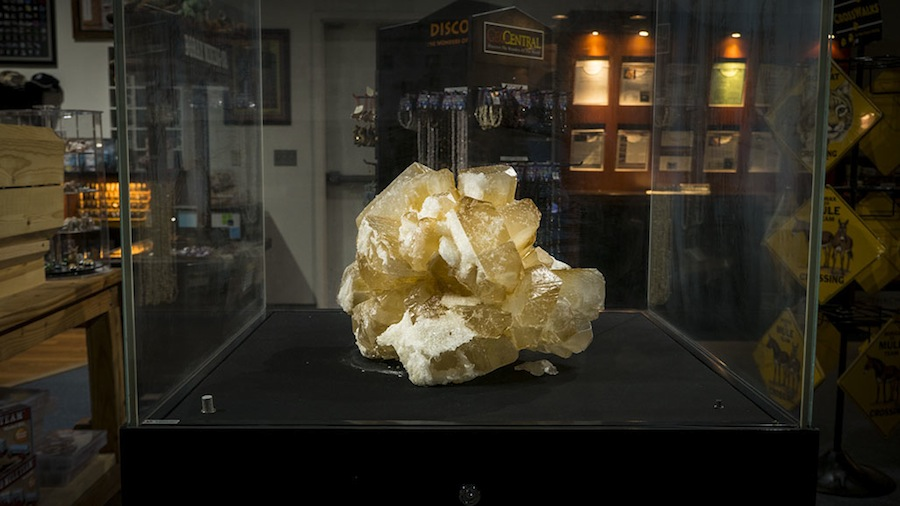 Rare borax crystal at the Twenty Mule Team Museum
