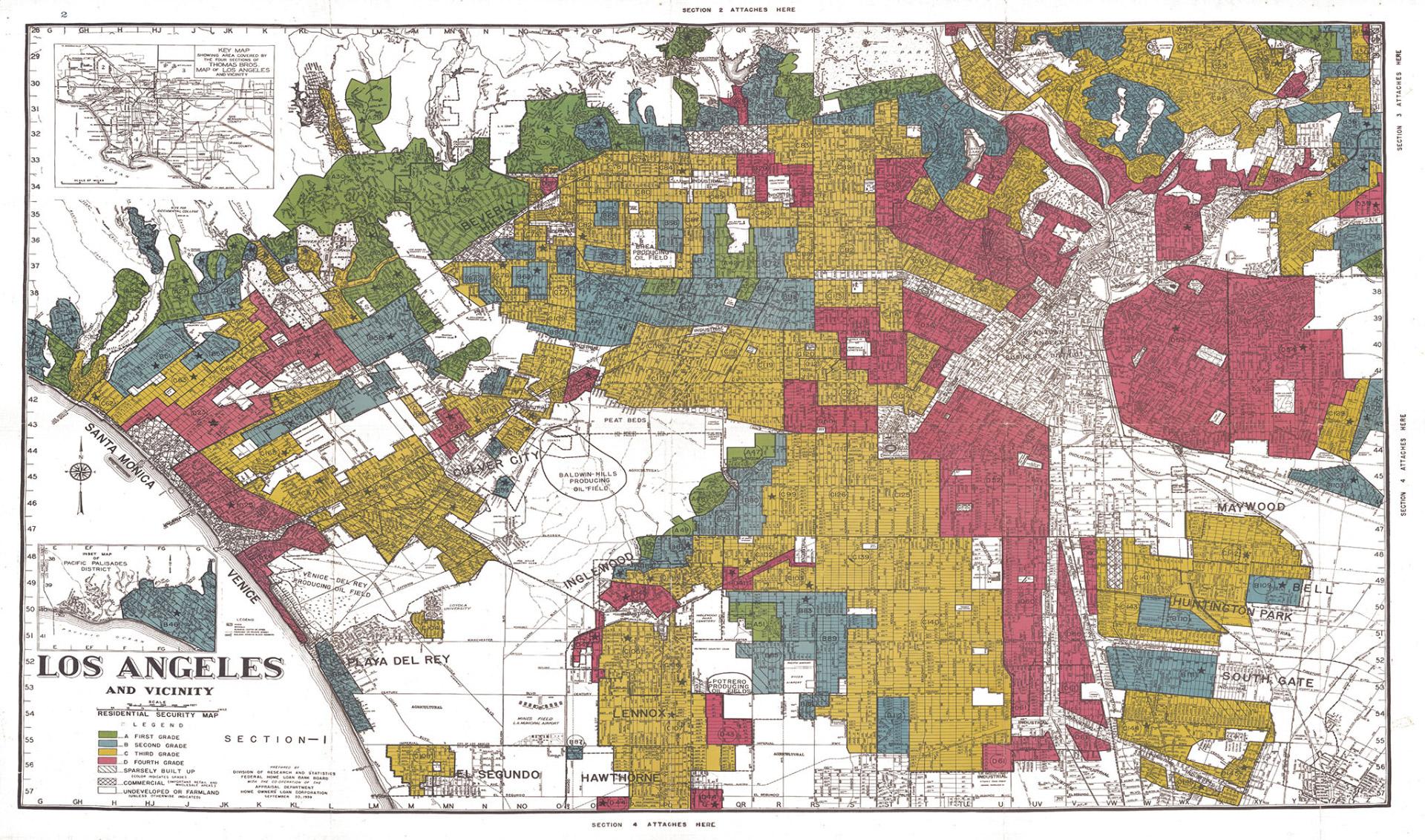 Redlining Map - Los Angeles