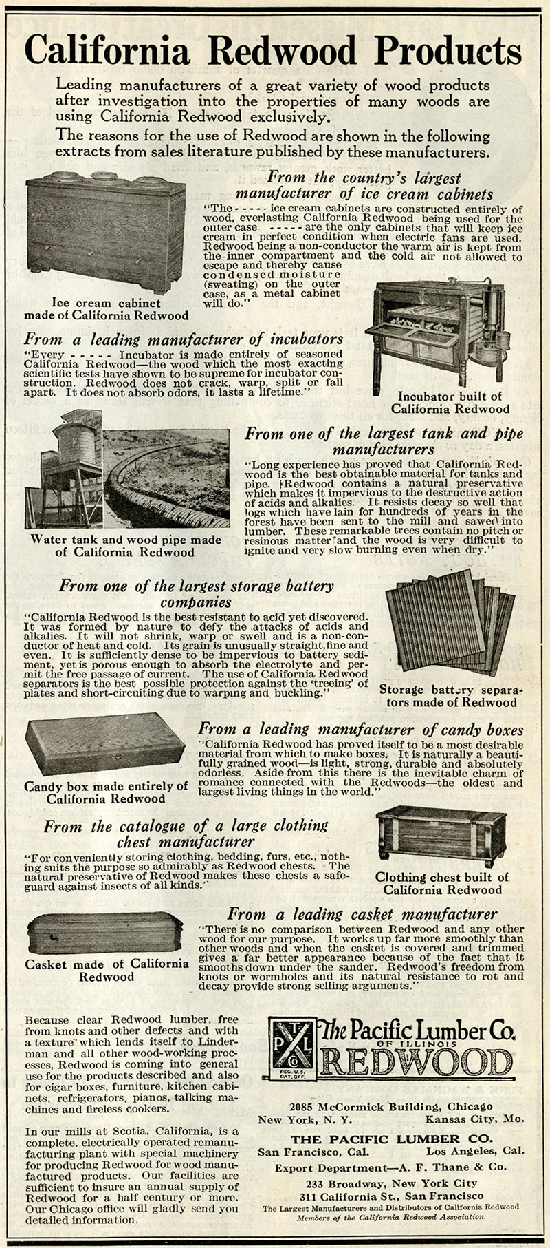 Redwood Products advertisement